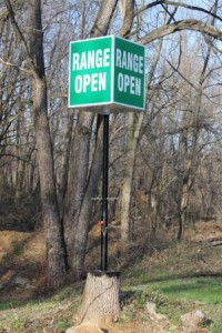 Range Open Sign
